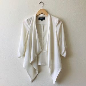 Poetry White Draped Blazer